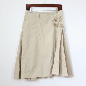 Athleta Tan Embroidered Skirt Sz 4